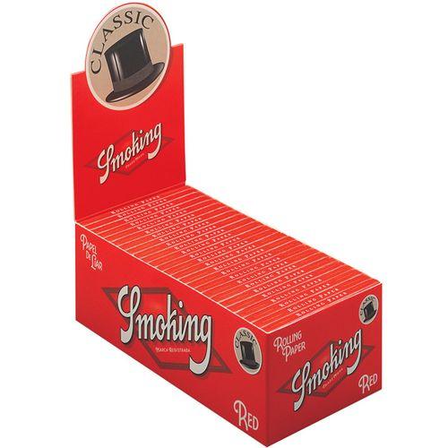 SMOKING papirići za motanje kratki crveni / Cijela kutija 50 komada slika 1