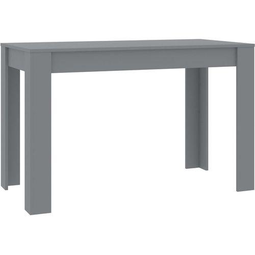 Blagovaonski stol sivi 120 x 60 x 76 cm od iverice slika 2