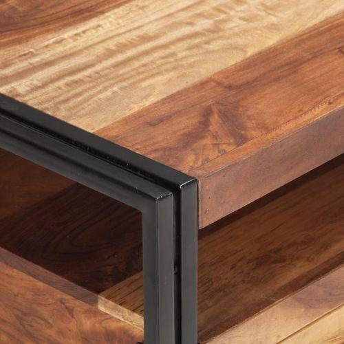 Stolić za kavu 100 x 55 x 45 cm od bagremovog drva i šišama slika 23