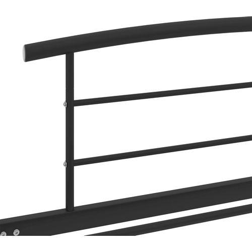 Okvir za krevet crni metalni 100 x 200 cm slika 5