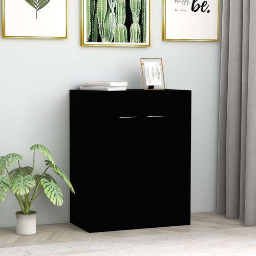 Komoda crna 60 x 30 x 75 cm od iverice slika 1