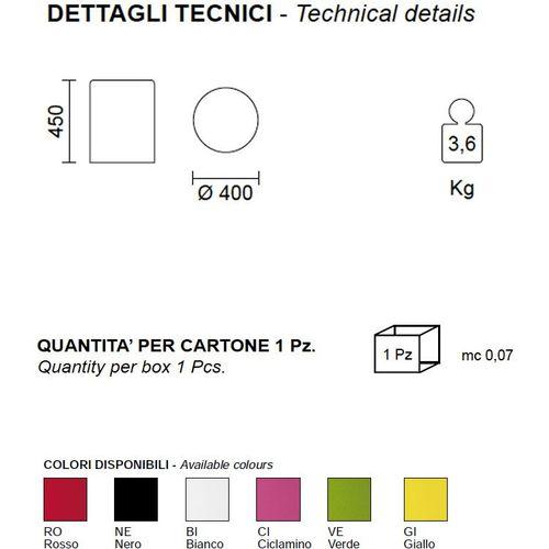Dizajnerski stolić / tabure — by ARCHIVOLTO slika 10