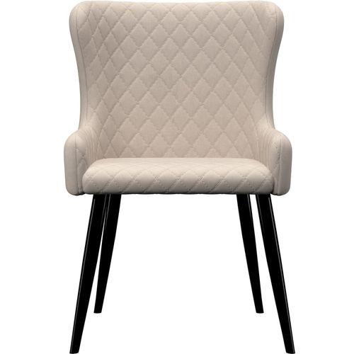 Blagovaonske stolice od tkanine 4 kom krem slika 3
