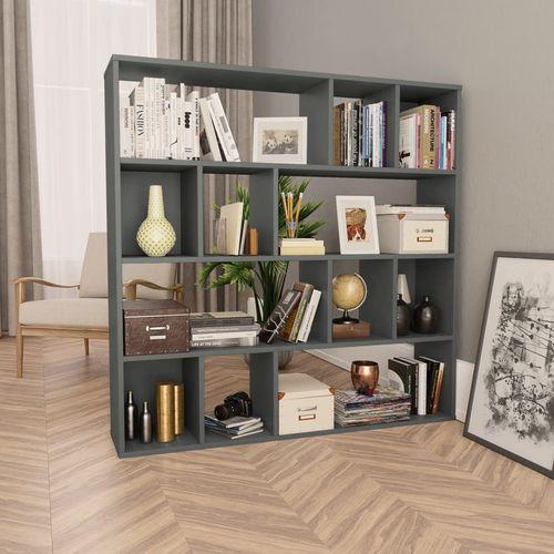 Sobna pregrada / ormarić za knjige siva 110x24x110 cm iverica slika 1