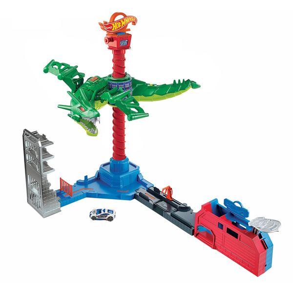 """Inspirirajte sate maštovite igre ogromnim motoriziranim Robo Dragonom koji se diže u zrak i spušta dok """"leti"""" uokolo pokušavajući pustiti negativce iz zatvora!  Pogodno od 5-10 godina"""