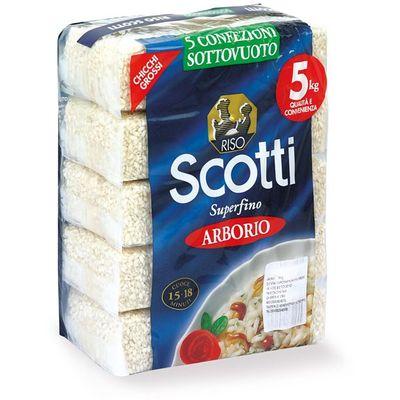 Riso Scotti - ARBORIO Bijela dugozrnata riža Zemlja podrijetla: Italija  5 x 1 kg