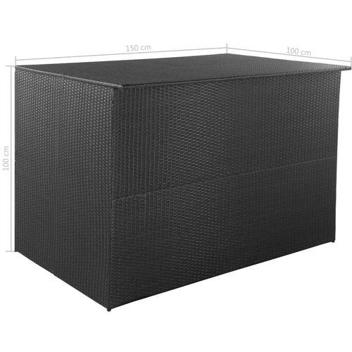 Vrtna kutija za pohranu od poliratana crna 150 x 100 x 100 cm slika 6
