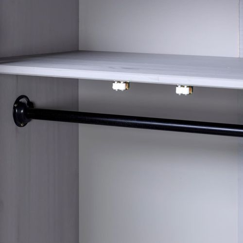 Ormar od borovine 3 vrata sivi 118x50x171,5 cm asortiman Panama slika 9