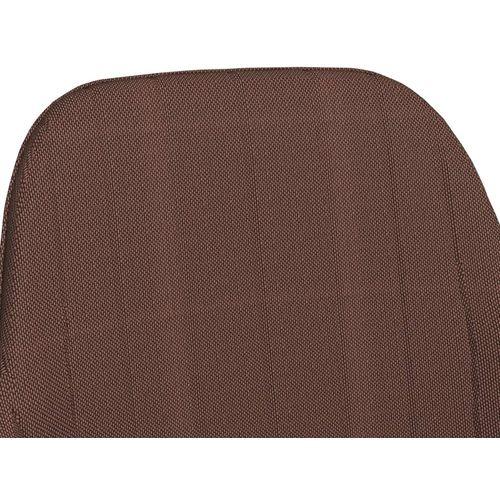 Blagovaonske stolice s naslonima za ruke 2 kom smeđe od tkanine slika 6