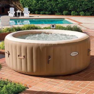 INTEX Masažni bazen Pure SPA 77 Bubble 28426    Potpuni wellness užitak pruža Vam grijani masažni bazen na napuhavanje Pure Spa. 120 zračnih mlaznica pruža vrhunski masažni doživljaj.