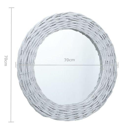 Ogledalo od pruća 70 cm bijelo slika 7