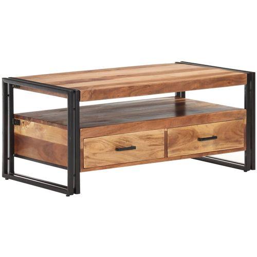 Stolić za kavu 100 x 55 x 45 cm od bagremovog drva i šišama slika 34