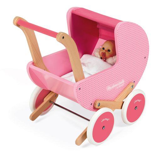 Janod Mademoiselle drvena kolica za lutke slika 3