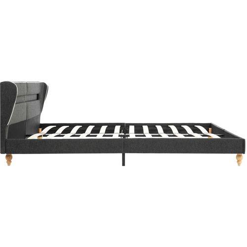 Krevet od jute s LED svjetlom i madracem tamnosivi 160 x 200 cm slika 5