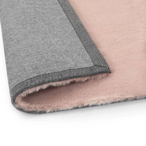 Tepih od umjetnog zečjeg krzna 160 x 230 cm blijedo ružičasti slika 4