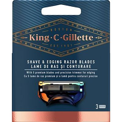 Vrhunac više od stoljeća inovacija i stručnosti te jedina linija koja nosi ime osnivača naše tvrtke: King C. Gillette. Oštrice brijača dizajnirane kako bi vam pomogle postići savršeni stil i izgled. Precizni trimer pomaže dosegnuti problematična područja olakšavajući oblikovanje dlačica na licu u bilo koju željenu formu.