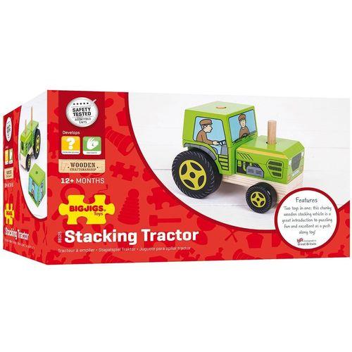 Bigjigs Didaktička igračka traktor slika 1