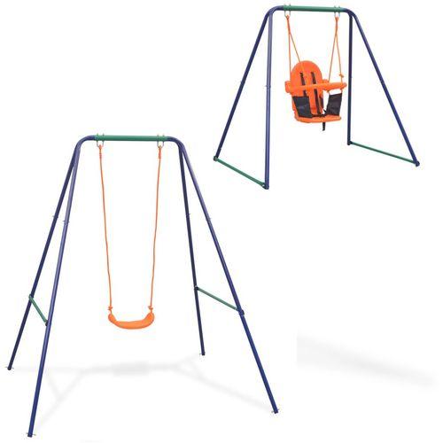 2-u-1 obična ljuljačka i ljuljačka za malu djecu narančasta slika 1