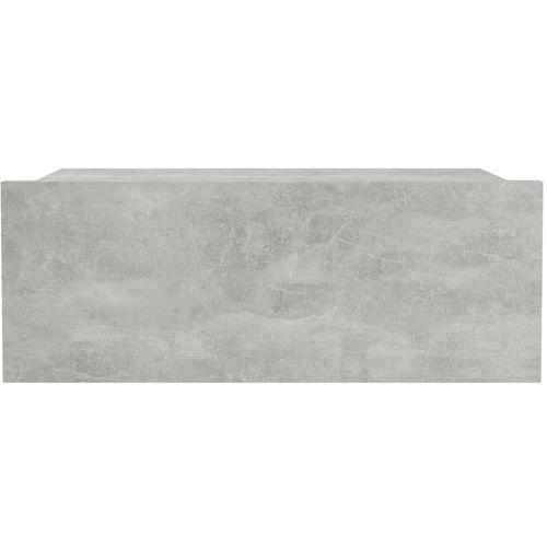 Viseći noćni ormarić siva boja betona 40x30x15 cm od iverice slika 4
