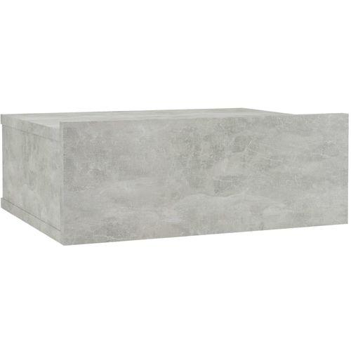 Viseći noćni ormarić siva boja betona 40x30x15 cm od iverice slika 2