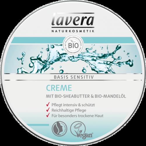 LAVERA Krema basis sensitive she maslac & badem BIO 150ml slika 1