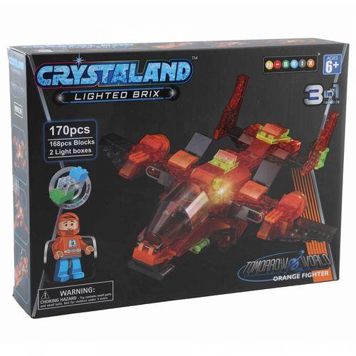 CRYSTALAND Crystal kocke 3u1 - Letjelica Orange Fighter slika 1