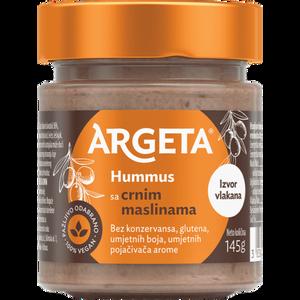 Argeta Crne masline  Za razmažena nepca nježni slanutak učinili smo pikantnijim s mediteranskim temperamentom aromatičnih crnih maslina. To je ljubav na prvi okus.