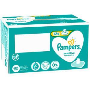 Nježna koža vaše bebe zaslužuje pouzdanu Pampersovu zaštitu kože. Vlažne maramice Pampers Sensitive klinički testirano čiste nježnije od pamučne vate i vode, dok Pampersova jedinstvena pH uravnotežena formula pomaže u sprečavanju iritacije kože tako što održava prirodnu pH vrijednost kože. I zato što su posebno namijenjene osjetljivoj koži vaše bebe, vlažne maramice Pampers Sensitive ne sadrže dodane mirise ni alkohol. Vlažne maramice Pampers Sensitive dermatološki su testirane i prikladne od prvog dana