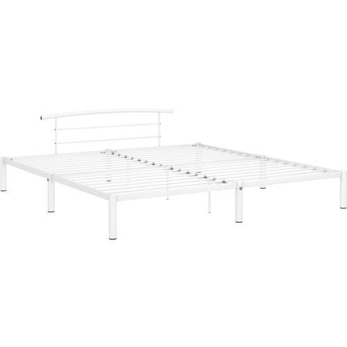 Okvir za krevet bijeli metalni 200 x 200 cm slika 2
