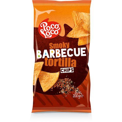 POCO LOCO tortilla chips, barbecue 200g slika 1