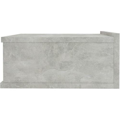 Viseći noćni ormarići 2 kom boja betona 40x30x15 cm od iverice slika 12
