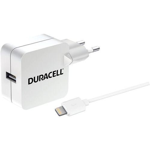 Duracell Punjač – Uni 1xUSB + Lightning cable – 2.4A - White  slika 2