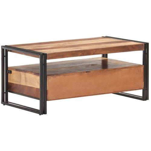 Stolić za kavu 100 x 55 x 45 cm od bagremovog drva i šišama slika 4
