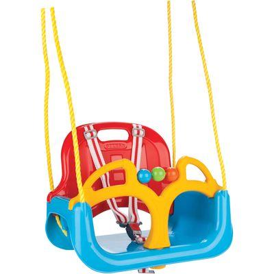 Ljuljačka 3 u 1 će pružiti svakom djetetu predivne trenutke zabave i uživanja.  Idealna je za postavljanje u vrtu ili dvorištu.  Namijenjena je za različite uzraste djece, od 12 mjeseci starosti, pa naviše.  Ljuljačka se može koristiti do, u prosjeku, sedme godine, maksimalne je nosivosti 35 kg.