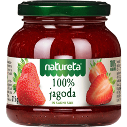 Natureta 100% džem jagoda 215g slika 1