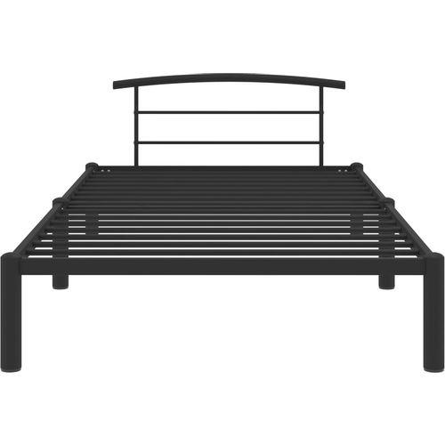 Okvir za krevet crni metalni 90 x 200 cm slika 3