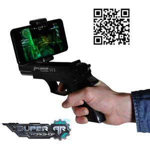 AR konzola (Augmented Reality) je zabavan gadget koji radi sa vašim pametnim telefonom i služi za igranje mobilnih igara. Preuzmite odgovarajuću aplikaciju, spojite AR konzolu preko Bluetootha sa pametnim telefonom i akcija može početi.  Najzabavnije j...