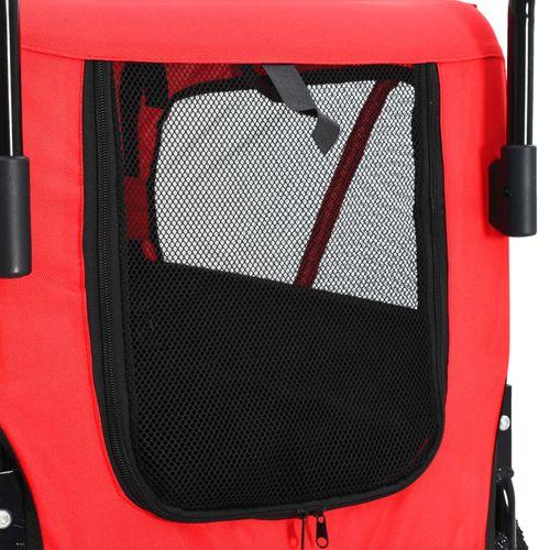 2-u-1 prikolica za bicikl i kolica za kućne ljubimce crveno-crna slika 6