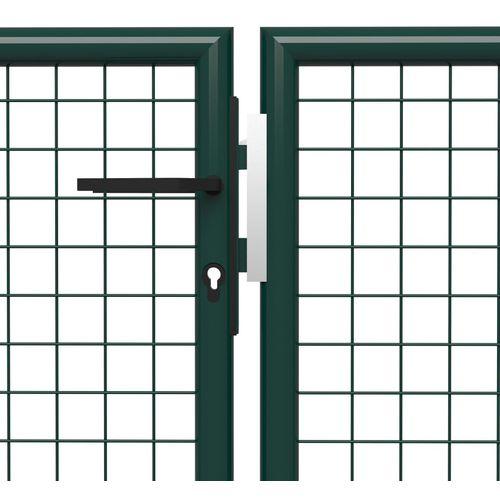Vrtna vrata čelična 500 x 175 cm zelena slika 9