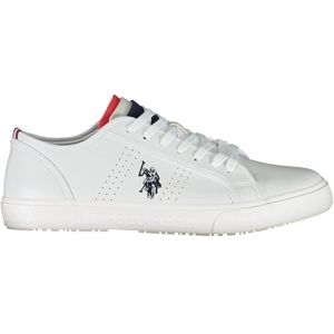 Sports footwear with strings, sole in contrast, contrasting details, logo