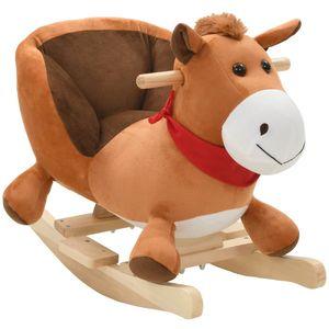 Vaša djeca rado će se igrati s našim slatkim konjićem za ljuljanje! Bit će njihova omiljena igračka i donijet će udobnost i užitak. Životinja za ljuljanje ima snažan metalni okvir, mekano punjenje i plišanu navlaku, kao i čvrstu drvenu bazu....