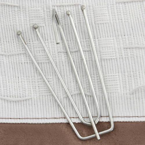 Zavjese za zamračivanje s kukama 2 kom smeđe-sive 140 x 245 cm slika 3