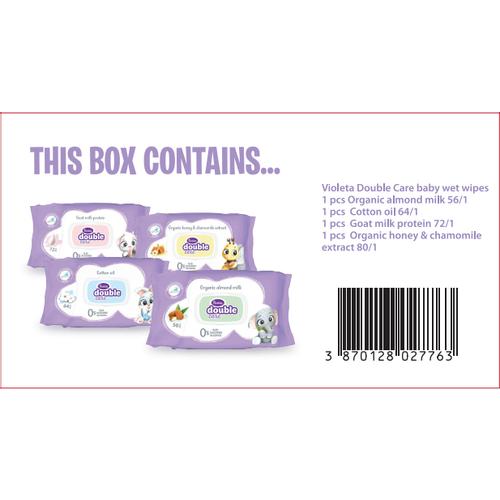 Violeta baby vlažne maramice kutija 4 pack-ljubičaste slika 2